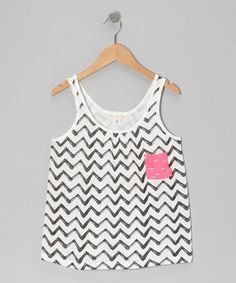 Take a look at this Black & White Listen To This Tank by Billabong on #zulily today!