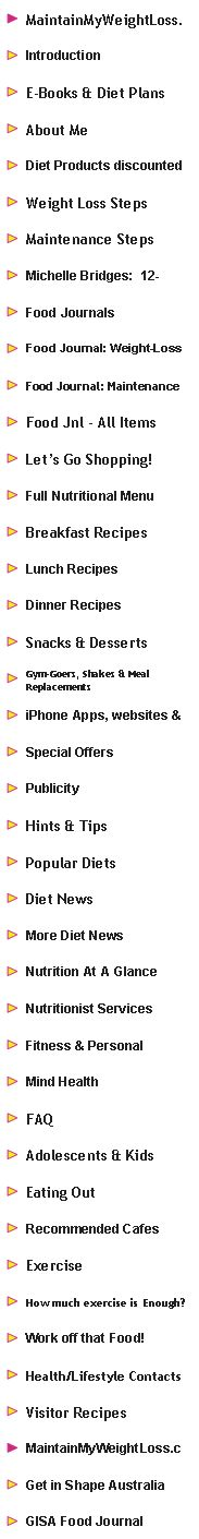 Great weight loss advice, recipes, hints, tips & discounted diet products!!