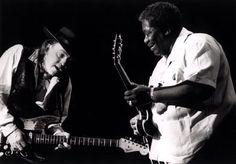 B.B.King and Stevie Ray Vaughan