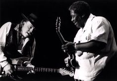 B.B.King and Stevie Ray Vaughan