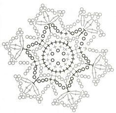 Новогодние снежинки крючком ... snowflake diagram