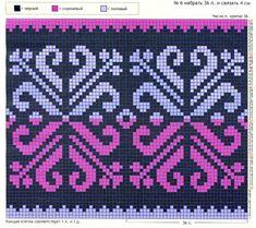 pattern for tapestry or mochila bag Tapestry Crochet Patterns, Bead Loom Patterns, Beading Patterns, Cross Stitch Patterns, Knitting Charts, Knitting Stitches, Knitting Designs, Knitting Patterns, Crochet Chart