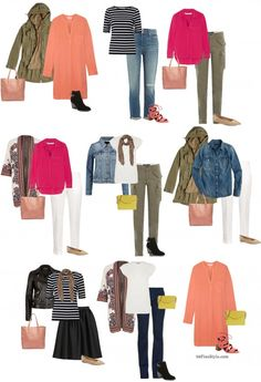 How to create and update your casual wardrobe for spring  Left to right my picks:  2,3,5 maybe 6
