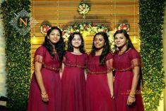 brides maid dresses indian Ideas Dress Bridesmaid Brides Made Indian Bridesmaid Dresses, Bridesmaid Saree, Indian Gowns Dresses, Bridesmaid Outfit, Ball Dresses, Wedding Bridesmaids, Spring Dresses Casual, Casual Dress Outfits, Summer Dress Outfits