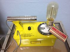 Geiger Counter Lamp with Edison Bulb