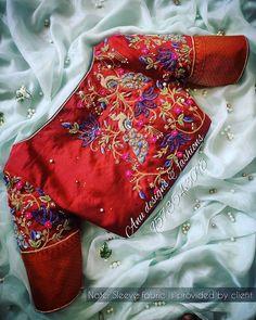 Blouse Back Neck Designs, Best Blouse Designs, Silk Saree Blouse Designs, Bridal Blouse Designs, Hand Work Design, Maggam Work Designs, Designer Blouse Patterns, Work Blouse, Hand Designs