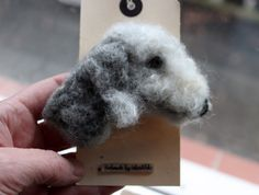 bedlington terrier brooch - good likeness!!