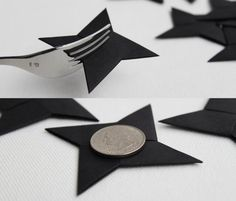 12 origami ninja stars (3'' cool party favor throwing shuriken) by myCrazyHands, pic2