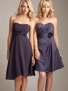 Dress on the right, love it!
