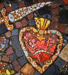IMA Instructor Carol Bevilacqua's Installation Accepted Into MAI Exhibit! … Sponsored Sponsored IMA Instructor Carol Bevilacqua's Installation Accepted Into MAI Mosaic Walkway, Pebble Mosaic, Mosaic Garden, Stone Mosaic, Mosaic Glass, Garden Art, Garden Paths, Mosaic Mirrors, Mosaic Wall