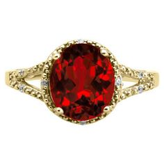 Gemologica Simple Oval Cut Garnet Diamond Yellow Gold Ring For Women - A garnet gemstone, in a bold and simple setting, is the centerpiece of this ring. Yellow Gold Rings, Black Gold, Garnet Gemstone, Gemstone Rings, Kids Earrings, Metal Shop, Silver Metal, Statement Jewelry, Bling Bling