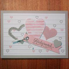 #stampinup #hochzeitskarte #hearthappiness #fürimmer #kaffeeolé