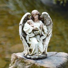 Roman, Inc. Angel with Baby Statue