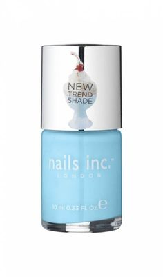 Chelsea Physic Garden   nails inc  Light blue - Just applied this lovely shade on my toes, it's so fresh & pretty!