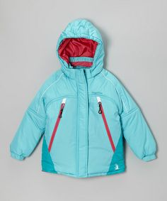 Take a look at this Turquoise & Hot Pink Snow Jacket - Infant, Toddler & Girls by Rugged Bear on #zulily today!