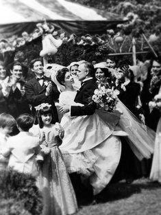 The Godfather, 1972, Francis Ford Coppola'sThe Godfather.  Photo: Talia Shire (Talia Rose Coppola) and Marlon Brando dance in the wedding scene. (Mondadori Portfolio by Getty)