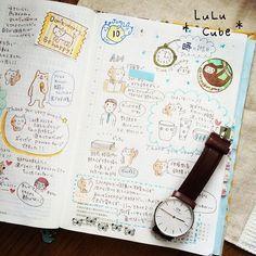 時は金なり。時間の使い方、もっと考えないと、と時の記念日に反省したのでした。 #ほぼ日手帳カズン #ほぼ日 #ほぼ日手帳 #絵日記倶楽部活動記録 #絵日記 #ダニエルウェリントン  #danielwellington #lulucube