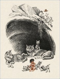 The Jungle Book by Rudyard Kipling. Mowgli.  Illustrator Sergey Artyushenko, 1986.    http://book-graphics.blogspot.ru/2012/07/mowgli.html#more