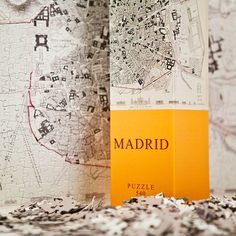 City map of Madrid.