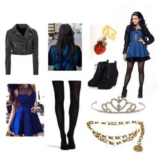 """""""Evie Descendants 2"""" by mysterygothic16 on Polyvore featuring mode, Glamorous, Disney, SPANX, Yves Saint Laurent en Chanel"""