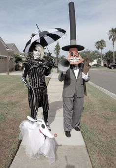Jack Skellington and The Mayor from Nightmare Before Christmas Thirl Hupp in costume and full designer ....See me on Face Book too
