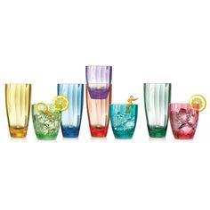 Pandex, juego de vasos de acrilico, varios colores, 16 piezas   Costco Mexico