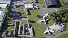 Aerial view of aircraft displays at Yorkshire Air Museum in York Visit Yorkshire, North Yorkshire, Air Force Memorial, Homes England, Days Out, Aerial View, United Kingdom, Art Gallery, Tower
