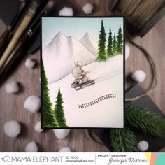 mama elephant | design blog: STAMP HIGHLIGHT: Dashin Thru The Snow