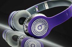 Purple With White Diamond Beats