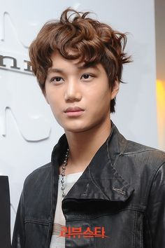 Kai of EXO appears at an event for the Suecomma Bonnie Shoes in Seoul.  -Lily