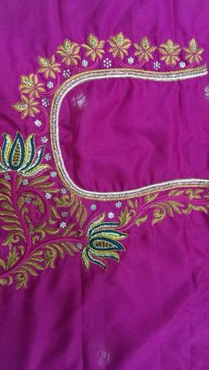 Maggam embroidery for blouses !