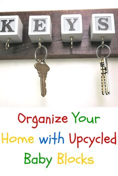 Don't throw those old toys away! Check out what you can do with baby blocks >> http://www.ulive.com/video/organize-your-home-with-upcycled-baby-blocks