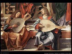 Bartolomeo Montagna Madonna con bambino in trono, dettaglio