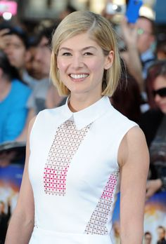 So, so right. | 21 Times Rosamund Pike's Short Hair Gave You Life