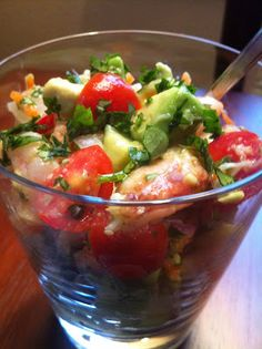 Lime Avocado Seafood Salad