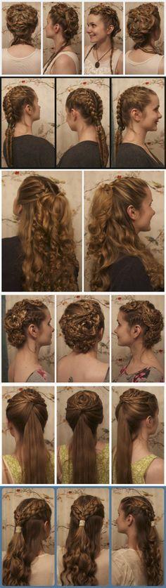 distintos tipos de peinadoos