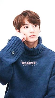 BTS JUNGKOOK BLUE SWEATER