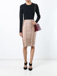 Balmain lace-up pencil skirt