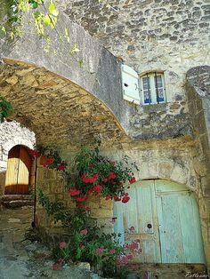 Flower passage, Ardeche, France