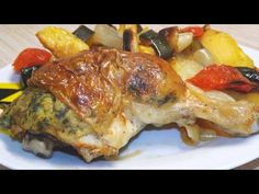 Töltött csirke a legegyszerűbb töltelékkel és tepsis burgonyával - YouTube Sin Gluten, Hungarian Recipes, Beverages, Healthy Recipes, Chicken, Youtube, Food, Gluten Free, Glutenfree
