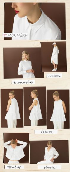White shirts, Stella McCartney, The Row, Equipment, Acne / Garance Doré