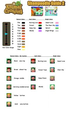 Animal Crossing New Leaf - Hair Color Guide