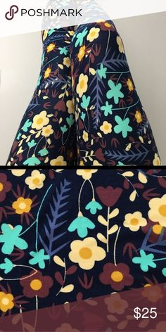 NEW! LULAROE FUNKY FALL PRINT LEGGINGS-TC Brand new and in perfect condition. LulaRoe, Tall & Curvy, made in China, polyester/spandex leggings. Stretches to accommodate a variety of sizes. Beautiful fall funky print. Excellent for anytime wear! LuLaRoe Pants Leggings