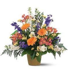 Music treble clef flower arrangement sympathy flowers House of flowers alexandria la