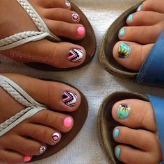 32 awesome nail design ideas to beautify your style 4 Summer Nails Almond, Almond Nails, Toe Nail Designs, Nail Polish Designs, Pedicure Designs, Nails Design, Cute Toe Nails, Toe Nail Art, Pretty Nails For Summer