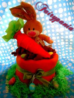 Easter diaper cake