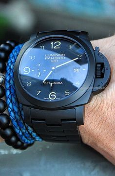 Forget performance, a luxurious watch attached to a wrist just always appears to be a significant enhancement to any wardrobe. Brand names like Rolex and Cartier carry an air of authority that real… Luminor Watches, Panerai Luminor, Seiko Watches, Breitling, Citizen Watches, Best Watches For Men, Luxury Watches For Men, Cool Watches, Black And Gold Watch