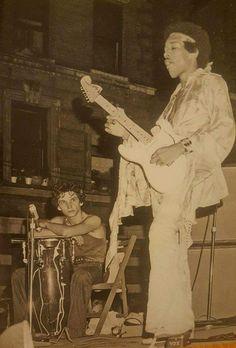 Jimi Hendrix & J. Velez, Harlem, New York, 1969