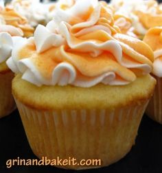 Flavors of Summer… Orange Creamsicle Cupcakes | Grin and Bake It!