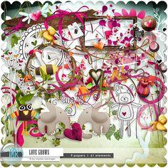 Love Grows  DIgital Scrapbooking Kit  9 Papiere I 61 von scrapstube, $4.00